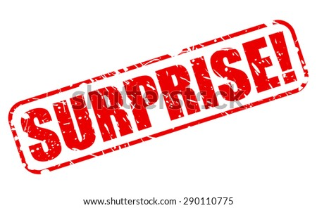Surprise red stamp text on white - stock vector