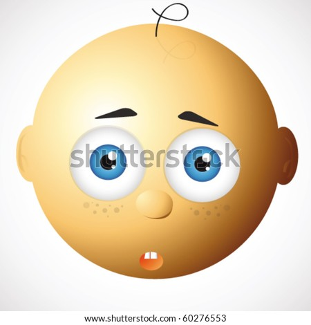 surprised baby - stock vector