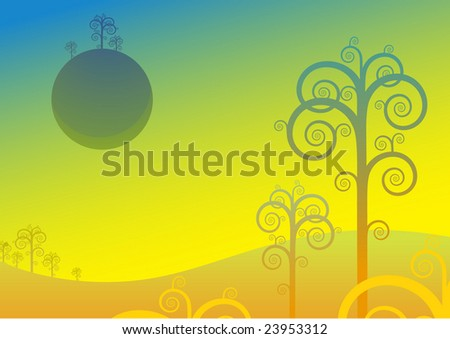 Surreal planet - stock vector