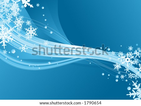 Surreal snowflakes design