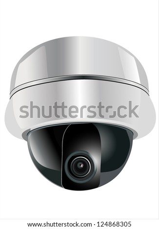 surveillance camera - stock vector