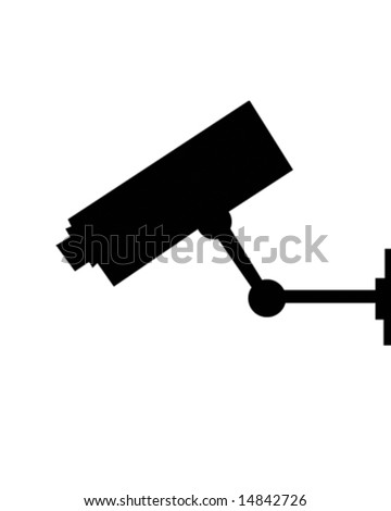 surveillance camera - stock vector