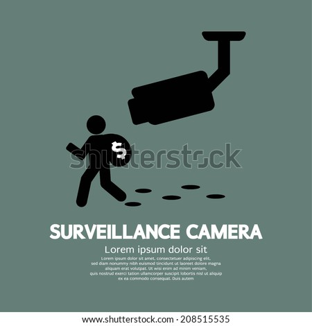 Surveillance Camera Graphic Vector Illustration - stock vector