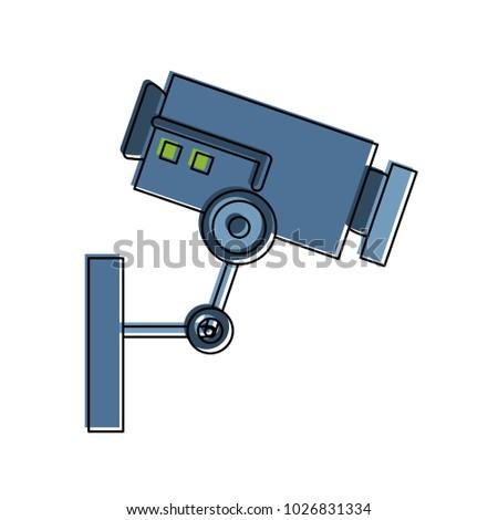 Surveillance Camera Symbol Stock Vector 1026831334 Shutterstock