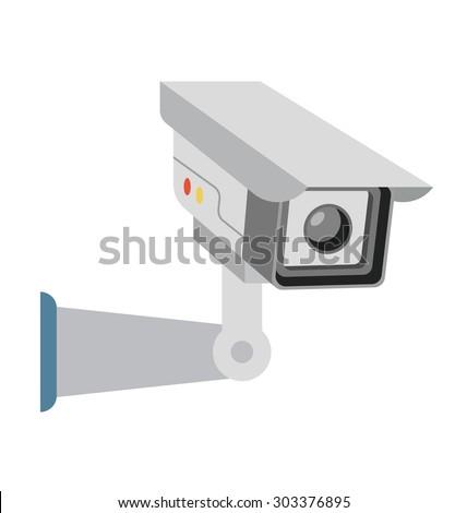 Surveillance Camera Vector Illustration  - stock vector