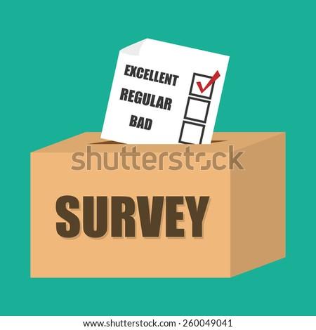 Survey design over white background, vector illustration. - stock vector