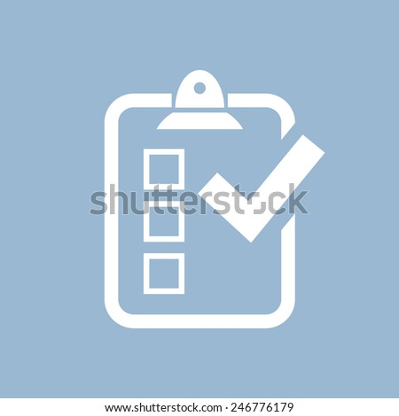 Survey icon - stock vector