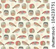 sushi seamless pattern - stock photo