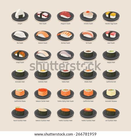 Sushi set , eps10 vector format - stock vector