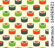 Sushi simple pattern - stock