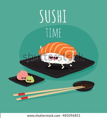 Sushi Eating Dog