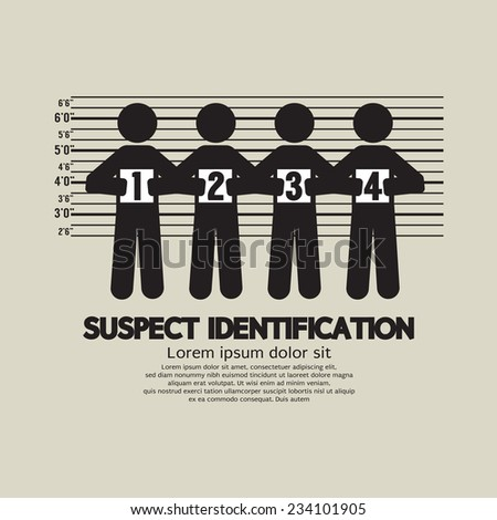 Suspect Identification Graphic Symbol Vector Illustration - stock vector