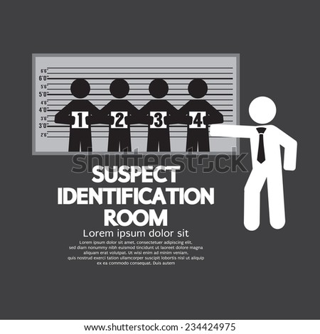 Suspect Identification Room Vector Illustration - stock vector