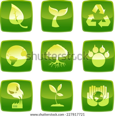 sustainability environmental icons in vector format. - stock vector