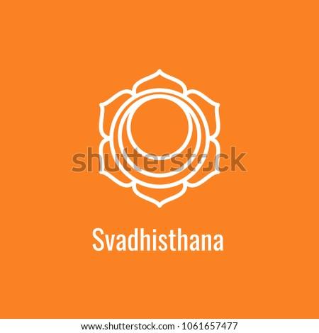 Svadhisthana Chakra Symbol Second Orange Sign Stock Vector