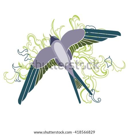 swallow - vector illustration - stock vector