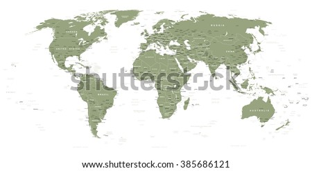World Map With City Names Stock Images RoyaltyFree Images