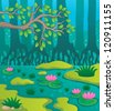 Swamp theme image 2 - vector illustration. - stock vector