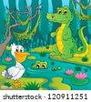 Swamp theme image 3 - vector illustration. - stock vector