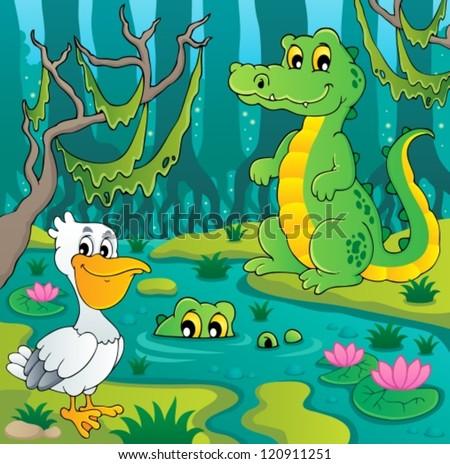 Swamp theme image 3 - vector illustration. - stock vector