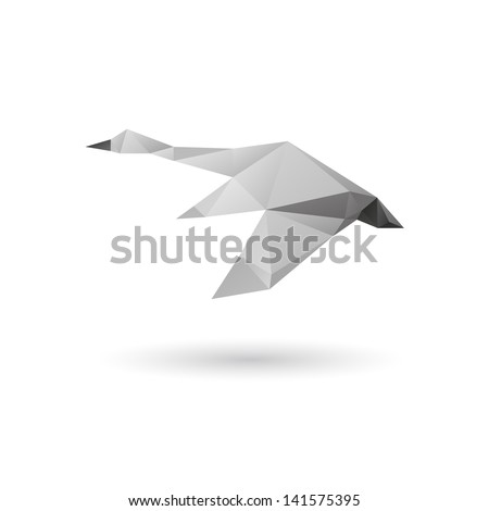 Swan isolated on a white backgrounds