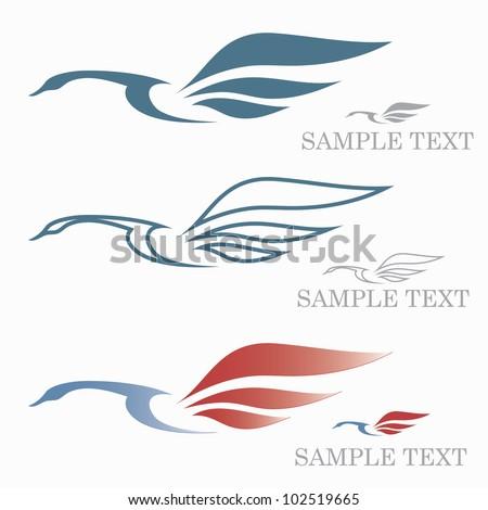 Swan symbol - vector illustration - stock vector