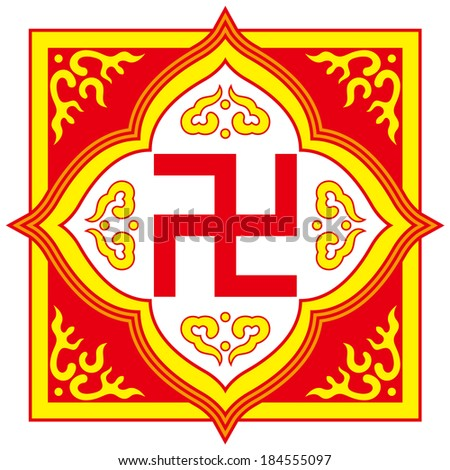 Swastika Symbol Buddhist Tradition Patternthe Symbol Could