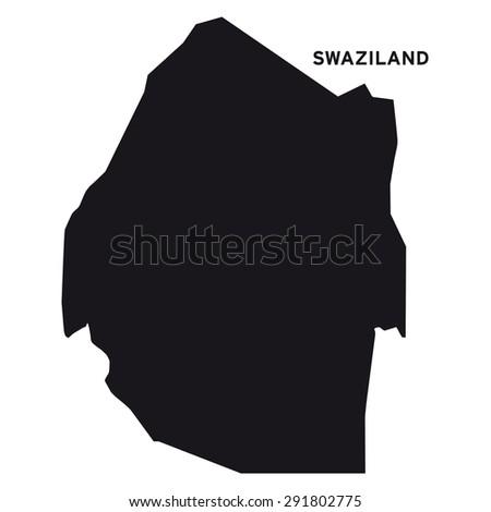 Swaziland map vector - stock vector