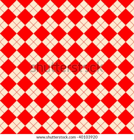 sweater texture red, vector art illustration; more textures in my gallery - stock vector