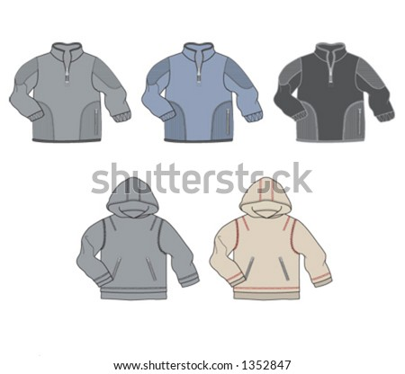Sweatshirts for children, with and without hood