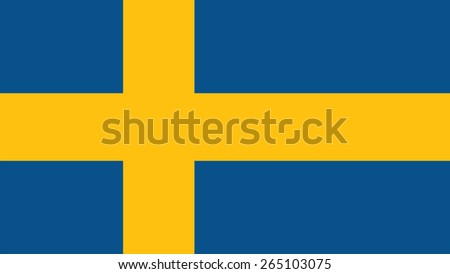 sweden Flag for Independence Day and infographic Vector illustration. - stock vector