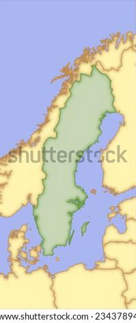 Germany Vector Map Borders Surrounding Countries Stock Vector - Germany map and surrounding countries