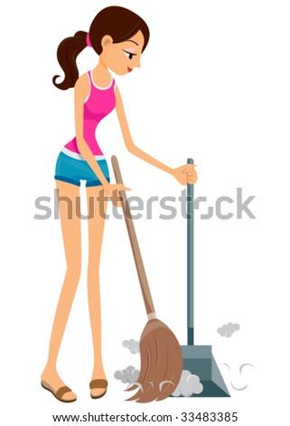 Sweeping - Vector - stock vector