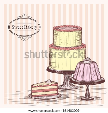 sweet bakery - stock vector