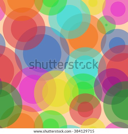 Sweet Bubbles. Seamless Texture for background image on websites, e-mails, etc. Cream-colored Background.