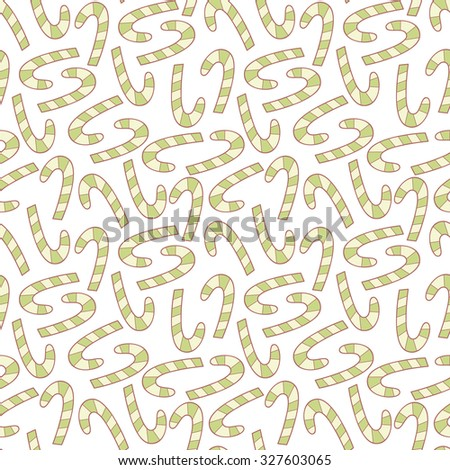 Sweet candy cane vector seamless pattern.