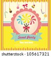 sweet card. vector illustration - stock vector