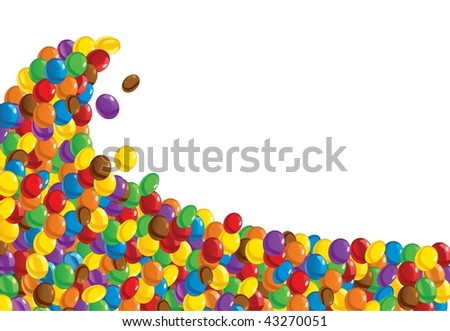 Sweet chocolate candies - abstract background