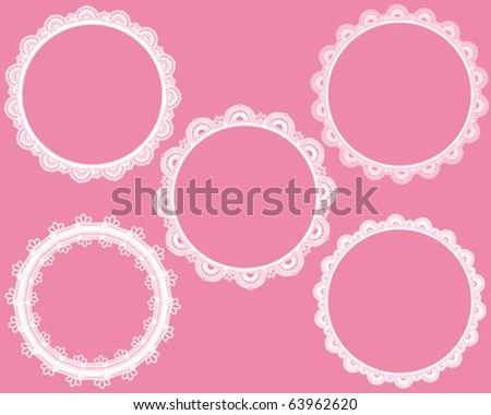 sweet circle lace - stock vector