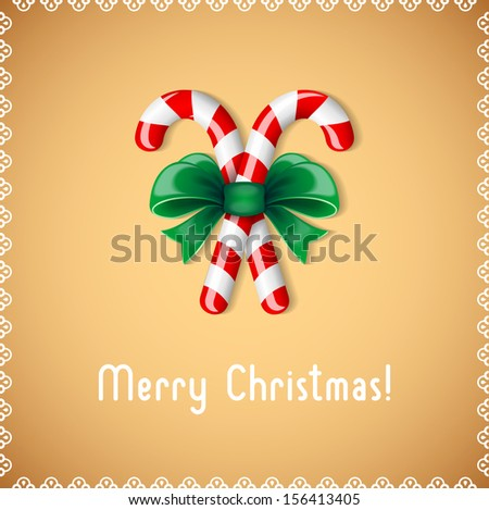 Sweet congratulation with Merry Christmas  - stock vector