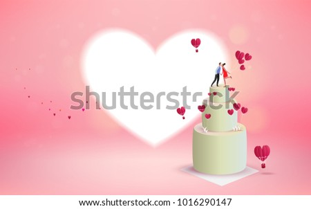 Sweet Couple Kissing On Valentines Day Stock Vector 1016290147 ...