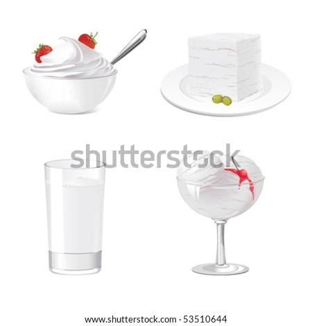 Sweet desserts - stock vector