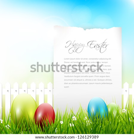 Sweet Easter background with place for text - stock vector