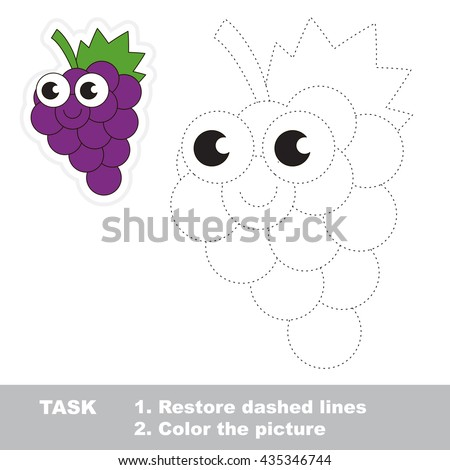 sweet grapes in vector to be traced easy educational kid game simple level of - Simple Pictures To Trace