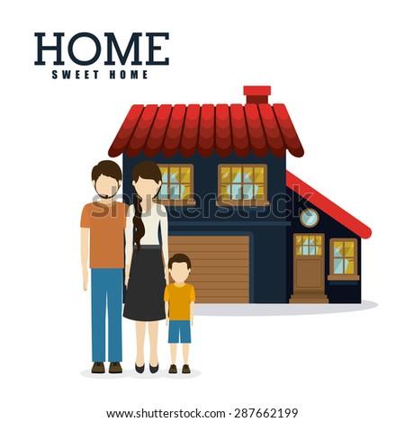 Sweet Home Design Over White Background Stock Vector 287686844 ...