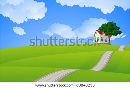 Sweet home. Vector. - stock vector