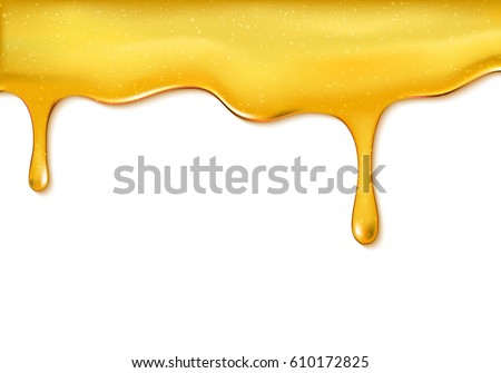 Sweet honey drips