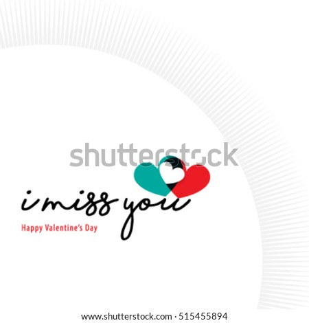 sweet quote heart valentines day layout design stock vector