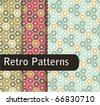 Sweet Retro Patterns - stock vector