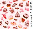 sweet seamless background - stock vector